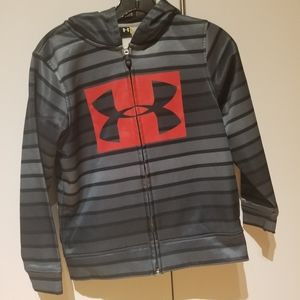 Under armour zipper hoodie size Youth S